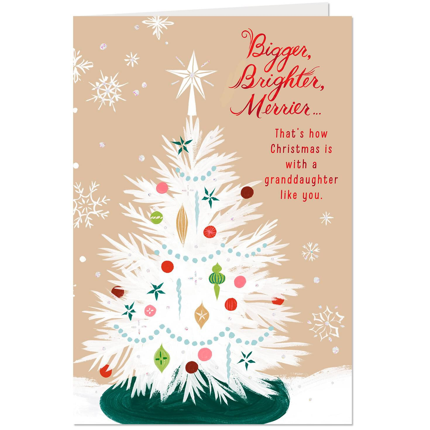 Love And Joy Christmas Card For Granddaughter Greeting Cards