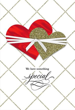 New Love Two Hearts Valentine's Day Card