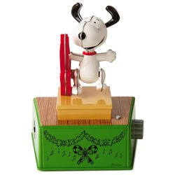 PeanutsR Snoopy Christmas Dance Party Figurine With Music And Motion Large