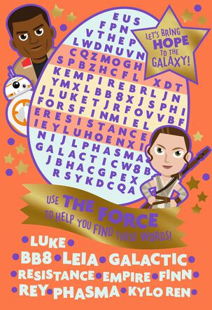 Star Wars™: The Force Awakens™ Kids Activities Easter Card