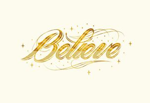 Believe Christmas Card