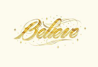 Believe Christmas Card,