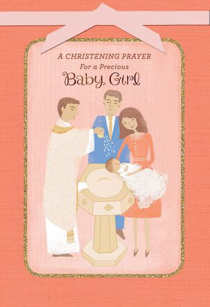 Blessings for a Sweet Baby Girl Christening Card