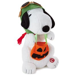Peanuts® Trick-or-Treat Flying Ace Snoopy Interactive Stuffed Animal, , large