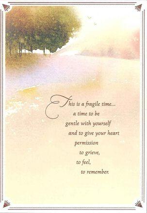 Watercolor Landscape Sympathy Card