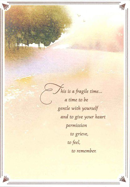 Watercolor Landscape Sympathy Card,