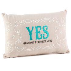 Throw Pillows Yes Or No : Yes/No Reversible Decorative Grandma Pillow - Pillows & Blankets - Hallmark