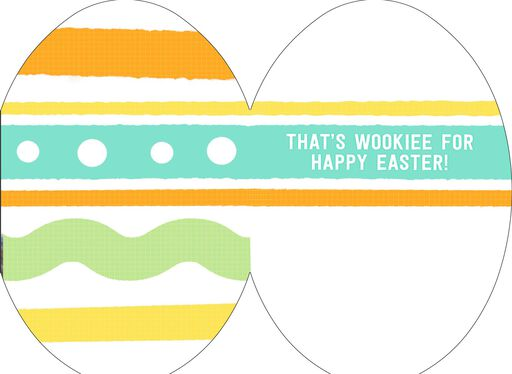 Star Wars™ Chewbacca™ Egg-Shaped Easter Card,