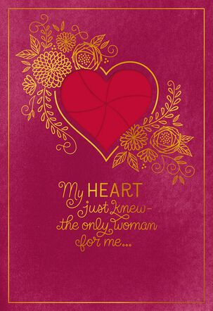 My Heart Just Knew Romantic Valentine's Day Card