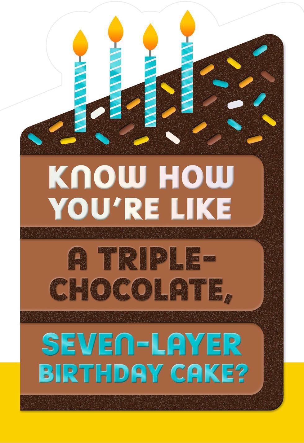 Seven Layer Birthday Card