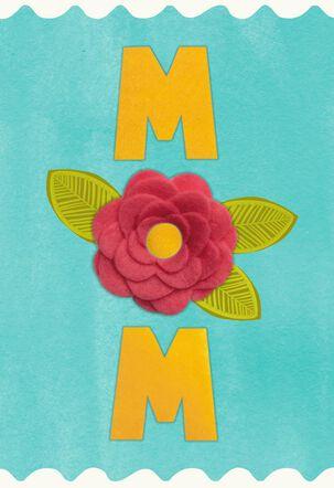 MOM Felt Flower Mother's Day Card