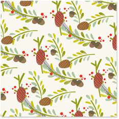Holly And Pine Christmas Wrapping Paper Roll 45 Sq Ft