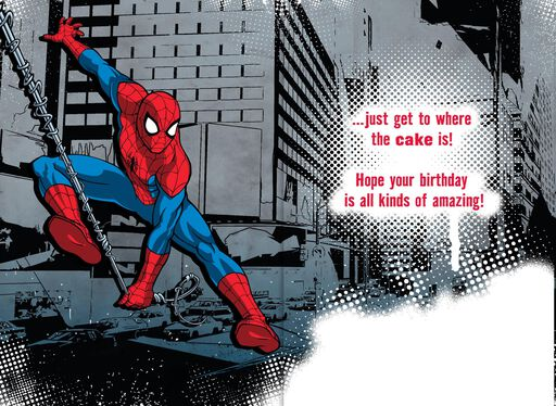 Spider-Man All Kinds of Amazing Musical Birthday Card,
