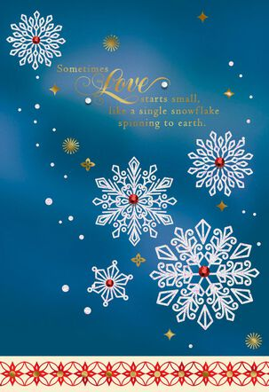 Love Starts Small Christmas Card for Wife