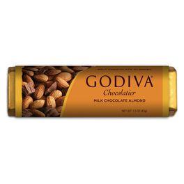 Godiva Milk Chocolate Bar With Almonds, , large