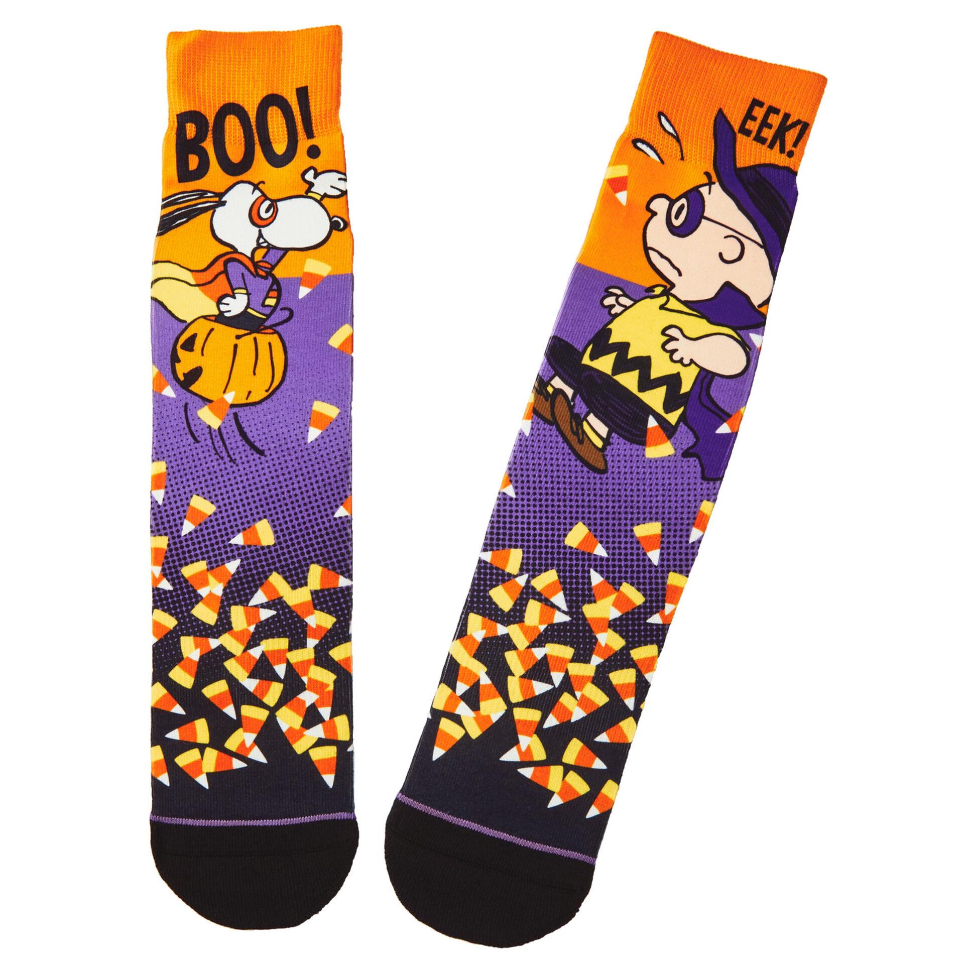 Hallmark Halloween Peanuts 2020 Peanuts® Snoopy the Candy Crusader Halloween Novelty Crew Socks