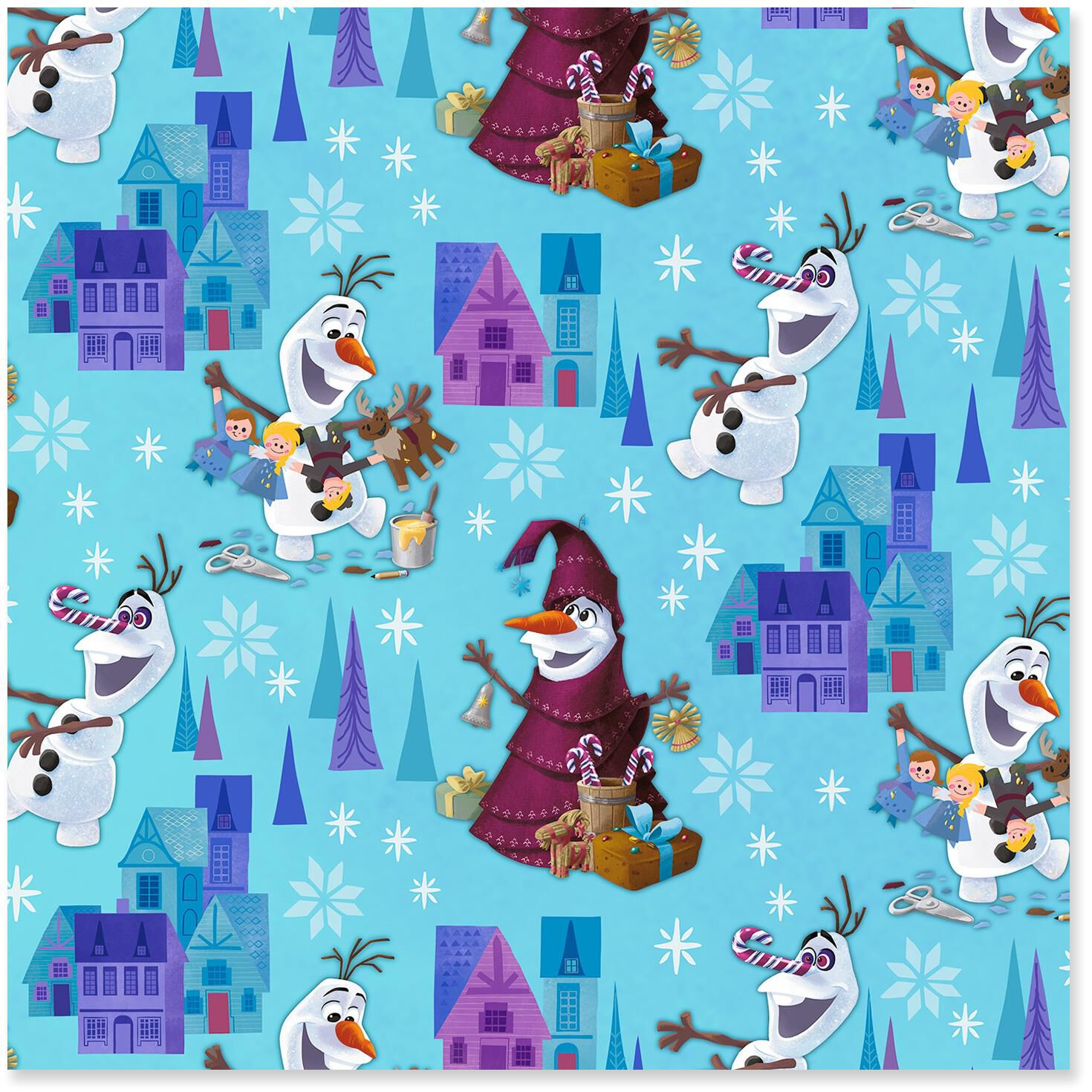 disney olafs frozen adventure jumbo christmas wrapping paper roll 80 sq ft wrapping paper hallmark