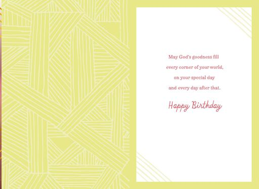 May Gods Goodness Fill Your World Religious Birthday Card