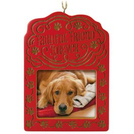 Faithful Friend Forever Pet Bereavement Photo Holder Ornament, , large