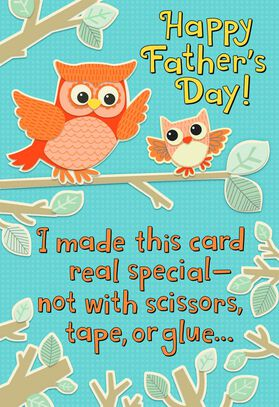 Owl to owl recordable fathers day card greeting cards hallmark owl to owl recordable fathers day card m4hsunfo