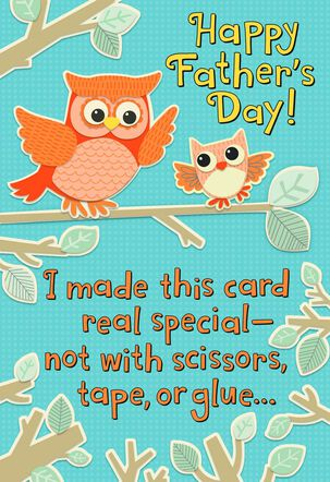 Owl to Owl Recordable Father's Day Card