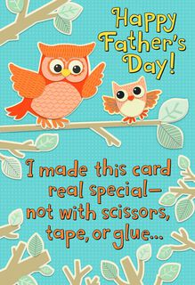 Owl to Owl Recordable Father's Day Card,