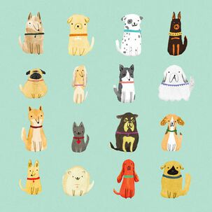 Unique Dog Personalities Blank Card