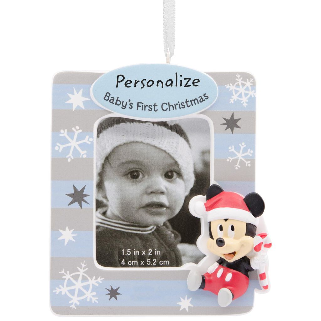 Disney Mickey Mouse Baby\'s First Christmas DIY Personalization ...