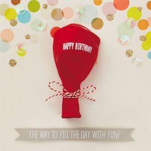 Fun Day Balloon Birthday Card