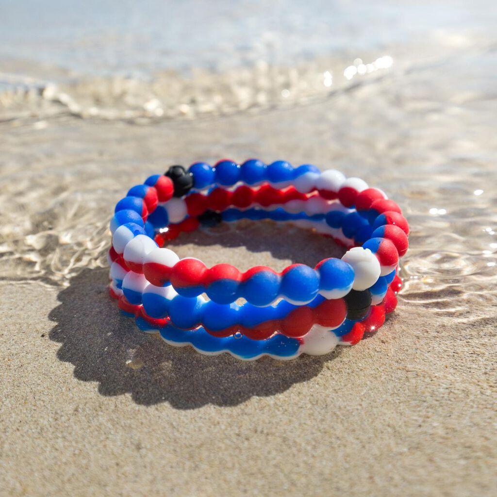 Small Wear Your World Red White Blue Lokai Bracelet