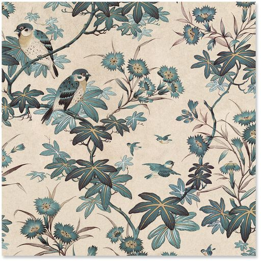 Birds And Branches Wrapping Paper Roll 27 Sq Ft