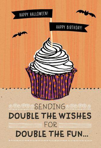 Halloween Birthday Cupcake Halloween Card - Greeting Cards - Hallmark