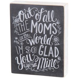 Primitives by Kathy All the Moms in the World Chalk Sign, , large