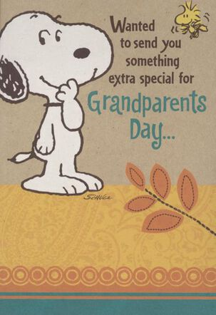 Snoopy Love You Lots! Grandparents Day Card