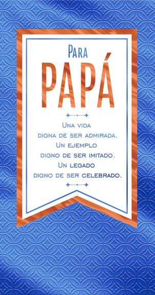 Celebrating Your Legacy Money Holder Spanish-Language Father's Day Card for Dad