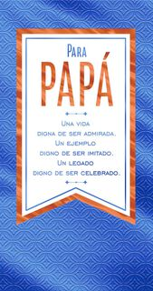 Celebrating Your Legacy Money Holder Spanish-Language Father's Day Card for Dad,