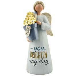 Friend Angel With Flower Pot Figurine, , large