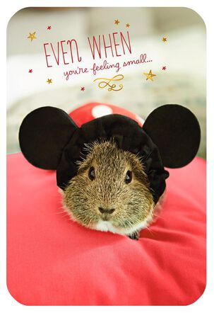 Mickey Mouse Guinea Pig Encouragement Card