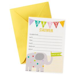 Elephant Baby Shower Invitations, Pack of 20, , large