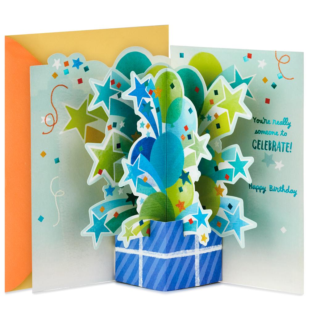 Celebrating You Pop Up Birthday Card