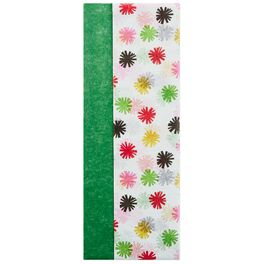 Kelly Green and Colorful Stars 2-Pack Tissue Paper, 6 Sheets, , large