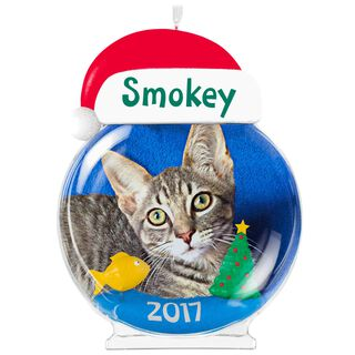 The Purrfect Christmas Personalized Cat Photo Frame Ornament,