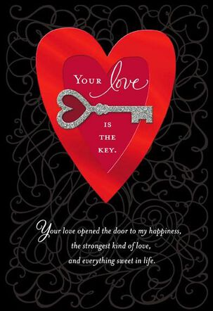 Love Is the Key Valentine's Day Card