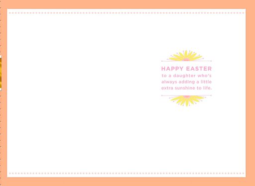 Daughter Adds Sunshine Easter Card,