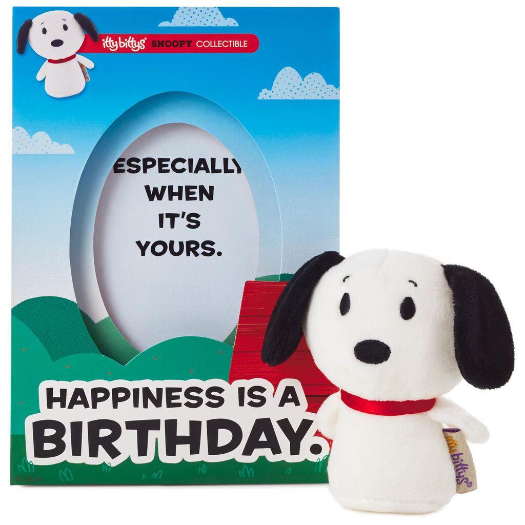 Itty Bittys Peanuts Snoopy Birthday Card With Stuffed Animal