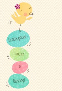 Perfect Balance Easter Card for Goddaughter,