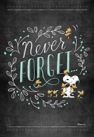 Peanuts® Snoopy and Friends Never Forget Encouragement Card