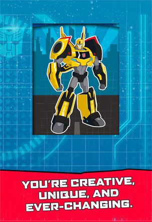 TRANSFORMERS™ Celebrating You Musical Birthday Card