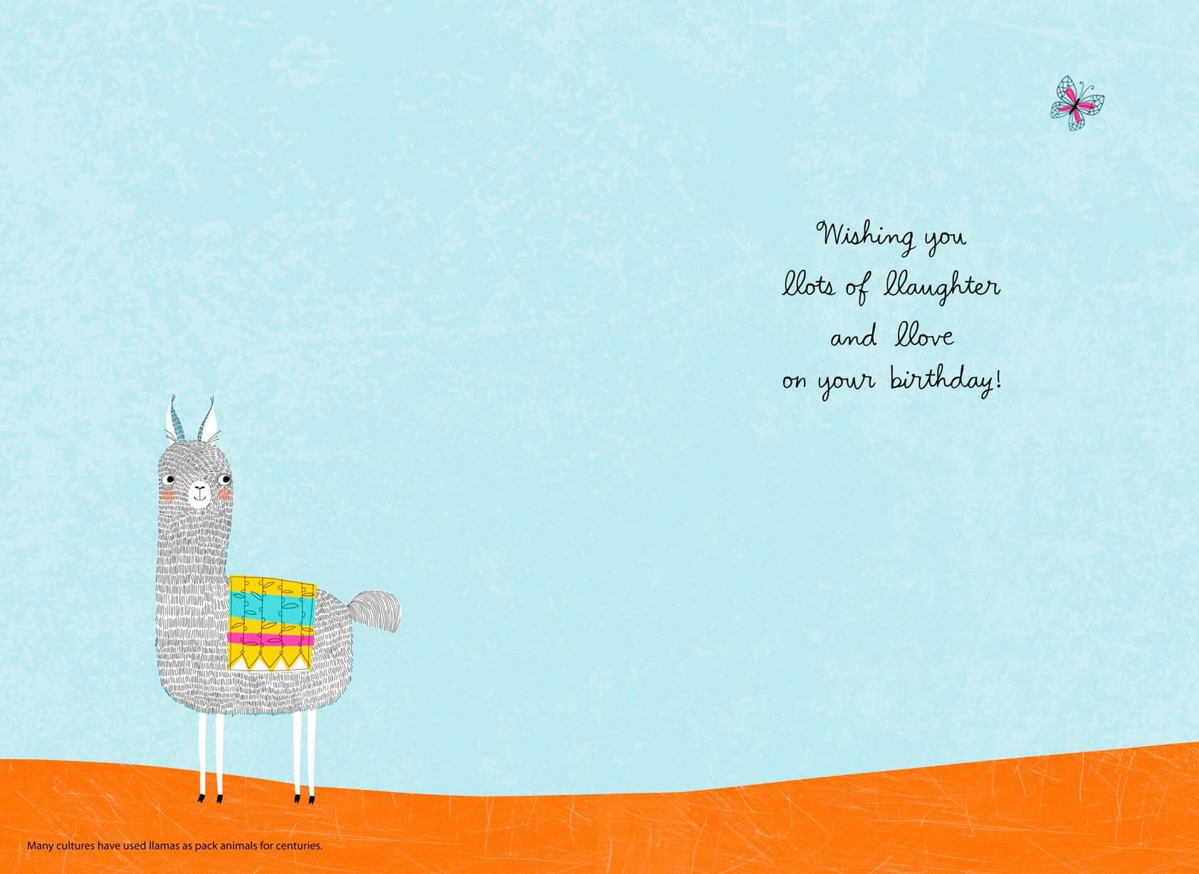 Llama Laughter and Love Birthday Card Greeting Cards Hallmark