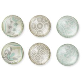Classic Glass Magnets, Set of 6, , large